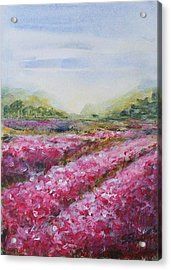 Acrylic Print featuring the painting Full Bloom by Jane  See