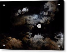 Full Moon After The Storm Acrylic Print