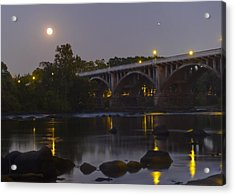 Full Moon And Jupiter-1 Acrylic Print