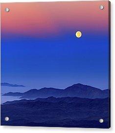 Full Moon At Dawn Acrylic Print by Babak Tafreshi