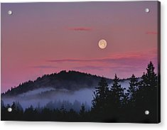 Full Moon At Dawn Acrylic Print