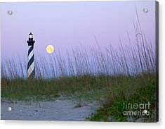 Full Moon At Hatteras Acrylic Print