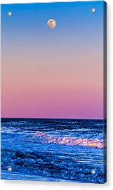 Full Moon At Sea Acrylic Print