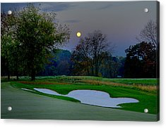 Full Moon At The Philadelphia Cricket Club Acrylic Print