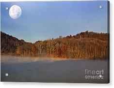 Full Moon Big Ditch Lake Acrylic Print by Thomas R Fletcher