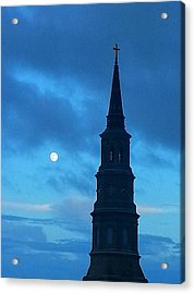 Acrylic Print featuring the photograph Full Moon In The Holy City by Joetta Beauford