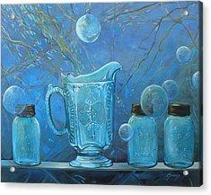 Full Moon Light Acrylic Print by Lynne Summers