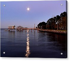 Full Moon On The Bay Acrylic Print