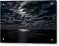 Full Moon On The Bay Of Fundy Acrylic Print by Marty Saccone