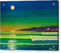 Full Moon On Venice Beach Acrylic Print