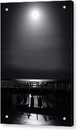 Full Moon Over Bramble Bay Acrylic Print