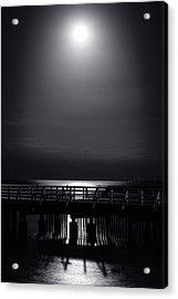 Full Moon Over Bramble Bay Acrylic Print by Peta Thames
