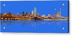 Full Moon Over Dallas Reflected Acrylic Print