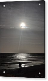 Full Moon Over Daytona Beach Acrylic Print