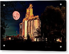 Full Moon Over Elevator Acrylic Print