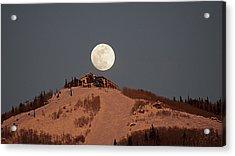 Full Moon Over Hazies Acrylic Print