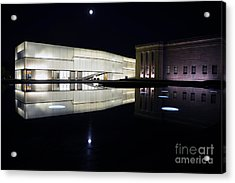 Full Moon Over Nelson Atkins Museum In Kansas City Acrylic Print