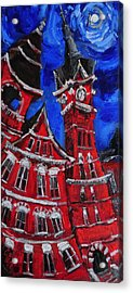 Full Moon Over Samford Acrylic Print by Carole Foret