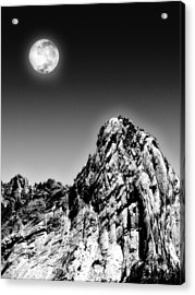 Full Moon Over The Suicide Rock Acrylic Print