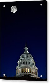 Full Moon Over Us Capitol Acrylic Print