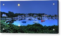 Full Moon Over Wychmere Harbor Acrylic Print