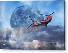 Full Moon Rescue Acrylic Print by Betsy Knapp