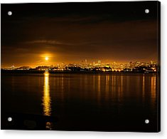 Full Moon Rising Over San Francisco Acrylic Print by Steven Reed