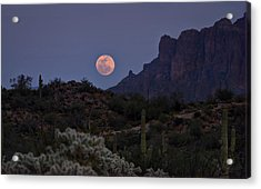 Full Moon Rising  Acrylic Print by Saija  Lehtonen