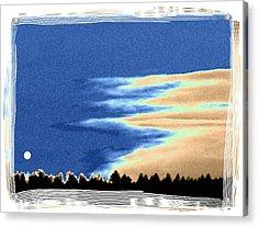Full Moon Rising Acrylic Print by Will Borden
