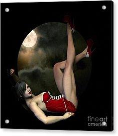 Acrylic Print featuring the digital art Full Moon by Sandra Bauser Digital Art