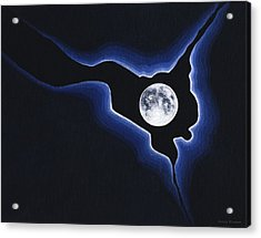 Full Moon Silver Lining Acrylic Print