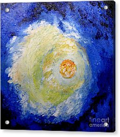Acrylic Print featuring the painting Full Moon by Susanne Baumann