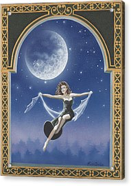 Full Moon Swing Acrylic Print by Nickie Bradley