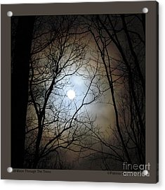 Full Moon Through The Trees Acrylic Print