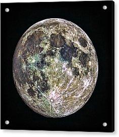Full Moon Acrylic Print by Todd Ryburn