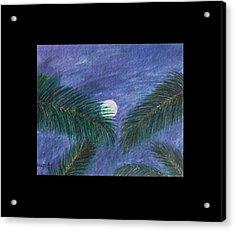 Full Moon Acrylic Print by Usha Rai