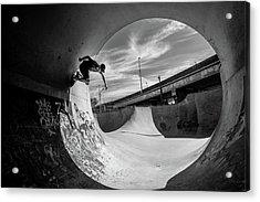 Full Pipe @ Sam Taeymans Acrylic Print by Eric Verbiest