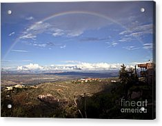 Full Rainbow Over Jerome Acrylic Print