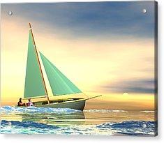 Full Sail Acrylic Print by John Pangia