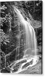 Fuller Falls Waterfall Black And White Acrylic Print