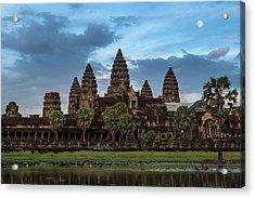 Fullmoon At Angkor Wat Acrylic Print