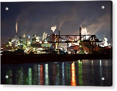 Acrylic Print featuring the photograph Fumes From Steel Mill In Hamilton Harbour by Marek Poplawski