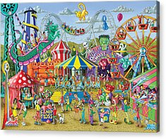 Fun At The Fairground Acrylic Print by Mark Gregory