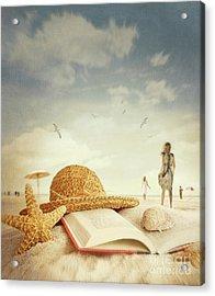 Fun Day At The Beach Acrylic Print by Sandra Cunningham