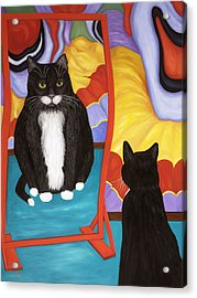 Fun House Fat Cat Acrylic Print