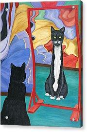 Fun House Skinny Cat Acrylic Print