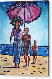 Fun In The Sun Acrylic Print by Linda Vaughon