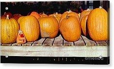 Acrylic Print featuring the photograph Fun Pumpkin by Tom Brickhouse