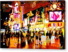Fun Time In Old Las Vegas Acrylic Print