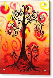 Fun Tree Of Life Impression Vi Acrylic Print by Irina Sztukowski